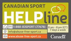 Canadian Sport Help Line 1-888-837-7678