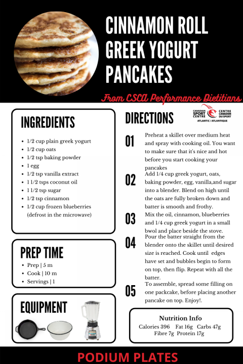 Cinnamon Roll Greek Yogurt Pancakes Recipe
